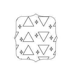 Line quadrate with memphis style geometric design vector