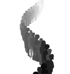Long queue People silhouettes vector image