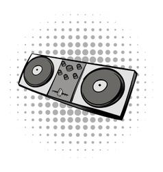 Mixing console black comics icon vector