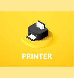 Printer isometric icon isolated on color vector