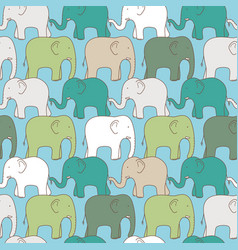Seamless pattern elephant vector