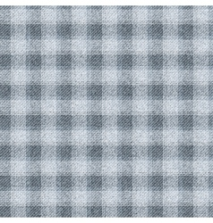 Seamless textured tartan Dark gray cells on a vector image vector image