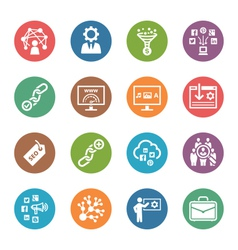 SEO Internet Marketing Icons Set 2 - Dot Series vector image vector image