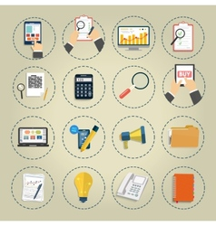Set of various financial service items vector