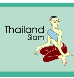 Thai lady design illrastration vector image