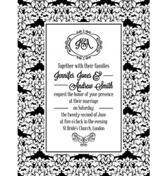 vintage delicate formal invitation card vector image vector image
