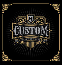 Vintage luxury banner template design vector