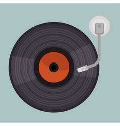 Vinyl player isolated icon design vector