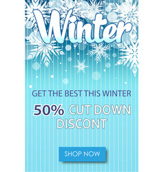 Winter sale text banners for december shopping vector