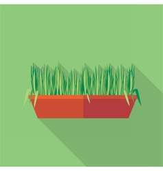 Digital green decorative grass vector