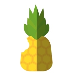 Pineapple fresh fruit isolated icon vector