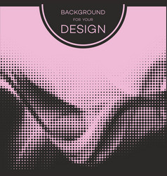 Abstract geometric graphic design halftone vector