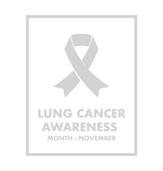 Lung cancer awareness vector