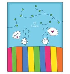Music and love vector