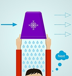 Ice bucket challenge colored flat vector