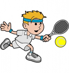 Illustration of male tennis player vector
