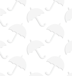 Paper white solid umbrellas vector