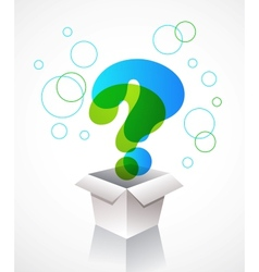 question mark icons vector image