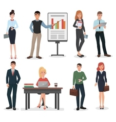 Office business people with gadgets documents and vector