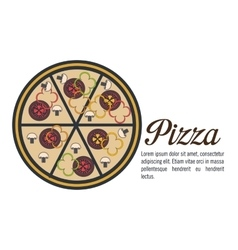 Delicious pizza isolated icon design vector