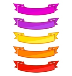Set of colored ribbons vector