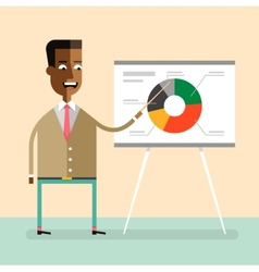 African american manager gives a presentation vector image vector image