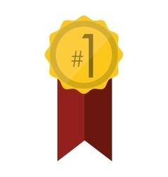 award badge icon vector image vector image