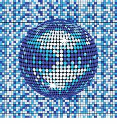 blue abstract disco ball background vector image vector image