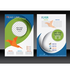 Business flyer brochure template vector