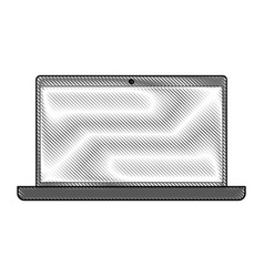 Color blurred stripe of laptop computer tech vector
