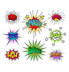 Comic speech bubbles and sound effects set vector