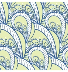 decorative pattern of the plant and abstract vector image