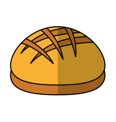 Delicious bread bakery product vector