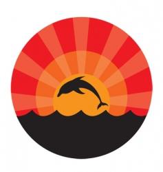 Dolphin frame vector