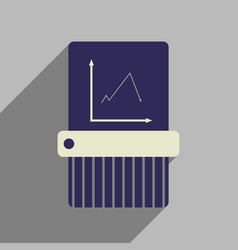 Flat web icon with long shadow shredder vector