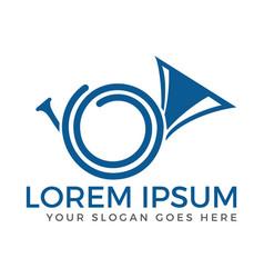 French horn logo vector