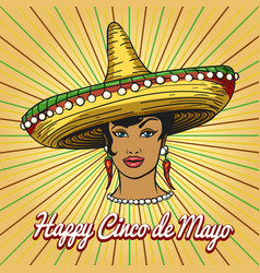 Happy cinco de mayo poster vector