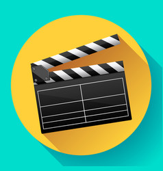 Movie clapper board movie maker vector