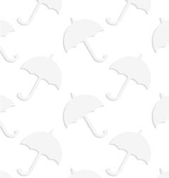 Paper white solid umbrellas vector
