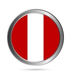 Peru flag button vector