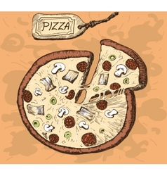 Pizza Hand drawn vector image