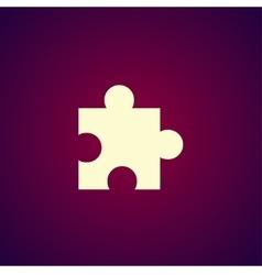 Puzzle Icon on Internet Button Original vector image vector image