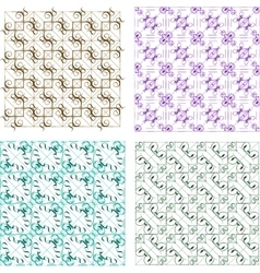 Retro background set with abstract design elements vector
