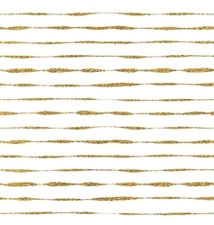 Seamless pattern of golden lines vector image vector image