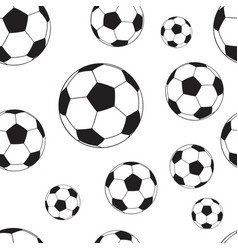 seamless pattern with football balls vector image