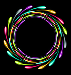 Shining glowing neon ring abstract background vector
