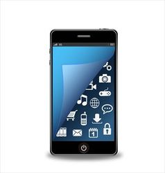 Smartphone with applications vector