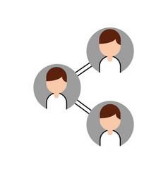 teamwork people avatars network vector image vector image