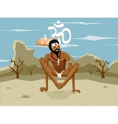 Yogi in asana vector