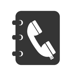 Phonebook book notes icon vector